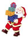 欢乐圣诞插画0014,欢乐圣诞插画,静物,堆积 仰头 抬脚 兴奋 神态