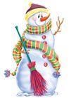 欢乐圣诞插画0017,欢乐圣诞插画,静物,扫帚 打扫 雪白 帽子 寒冷