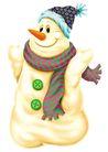 欢乐圣诞插画0021,欢乐圣诞插画,静物,雪人 帽子 围巾