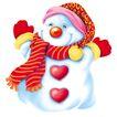 欢乐圣诞插画0029,欢乐圣诞插画,静物,表情 帽子 纽扣