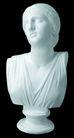 石膏像0076,石膏像,静物,妇女 放松 后仰