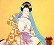 东洋仕女0015,东洋仕女,中国国画,面具 舞蹈 法术 眼神 表演