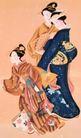 东洋仕女0016,东洋仕女,中国国画,游玩 结伴 朋友 伙伴 休闲