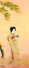 东洋仕女0020,东洋仕女,中国国画,日本 仁女 站姿