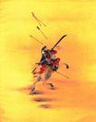 东洋仕女0027,东洋仕女,中国国画,战马 战场 将士