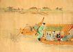 东洋仕女0030,东洋仕女,中国国画,游船 游客 东洋仕女