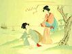 东洋仕女0031,东洋仕女,中国国画,仕女交流 矮树