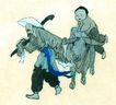 人物-综合0001,人物-综合,中国国画,速写 放牛 老农 画风 斗笠