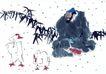 人物-综合0006,人物-综合,中国国画,白鹅 家禽 竹叶 画面 国画