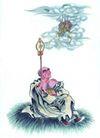 人物-综合0028,人物-综合,中国国画,云彩 龙头 佛像