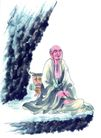 人物-综合0030,人物-综合,中国国画,老者 山野 仙人