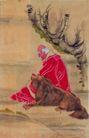 人物-综合0032,人物-综合,中国国画,动物 老黄狗 宠物