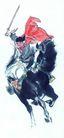 人物-综合0036,人物-综合,中国国画,马匹 刀剑 骑马