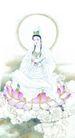 人物-综合0037,人物-综合,中国国画,观音 莲花座 女子