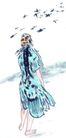 人物-综合0040,人物-综合,中国国画,飞鸟 诗人 背影