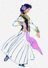 人物、待女、童戏0019,人物、待女、童戏,中国国画,服饰 服装 装饰 装扮 衣装