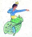 人物、待女、童戏0023,人物、待女、童戏,中国国画,舞女 跳舞 舞蹈