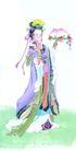 人物、待女、童戏0035,人物、待女、童戏,中国国画,小姐 水果 食物