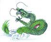 十二生肖0028,十二生肖,中国国画,龙年 龙鳞 飞舞