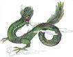 十二生肖0029,十二生肖,中国国画,龙爪 龙头 体形