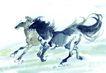 十二生肖0038,十二生肖,中国国画,马匹 奔跑 马年