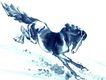 十二生肖0040,十二生肖,中国国画,牲口 走兽 身姿