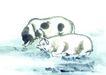 十二生肖0077,十二生肖,中国国画,懒惰 睡觉 生活