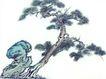 古树奇石0008,古树奇石,中国国画,方向 伸展 枝头