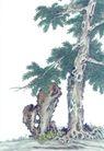 古树奇石0021,古树奇石,中国国画,古树 石头 树干