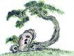 古树奇石0023,古树奇石,中国国画,怪石 树木 景观