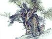 古树奇石0024,古树奇石,中国国画,花园 树枝 园艺