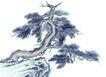 古树奇石0029,古树奇石,中国国画,