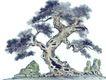 古树奇石0035,古树奇石,中国国画,风景画 古木 树杆