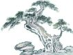 古树奇石0036,古树奇石,中国国画,形状 石块 名画