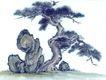 古树奇石0039,古树奇石,中国国画,古树 奇石