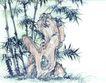 古树奇石0050,古树奇石,中国国画,