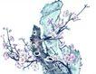 古树奇石0054,古树奇石,中国国画,