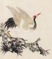 吉祥鸟0011,吉祥鸟,中国国画,白鹤 飞舞 天空 飞翔 自由