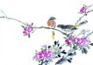 枝头飞乌0008,枝头飞乌,中国国画,鸟类 景致 枝叶