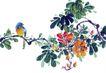 枝头飞乌0012,枝头飞乌,中国国画,回首 神态 枝蔓