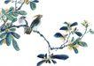 枝头飞乌0013,枝头飞乌,中国国画,野花 枝叶 景象