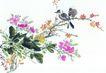 枝头飞乌0020,枝头飞乌,中国国画,水墨 花香 鸟语
