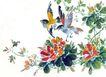 枝头飞乌0021,枝头飞乌,中国国画,枝头 飞鸟 叶子