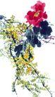 枝头飞乌0031,枝头飞乌,中国国画,细碎黄叶