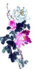 枝头飞乌0035,枝头飞乌,中国国画,紫薇花