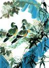 枝头飞乌0040,枝头飞乌,中国国画,芭蕉 鸟窝