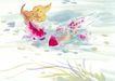 水族世界0002,水族世界,中国国画,嬉戏 池塘 水草
