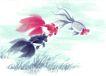 水族世界0012,水族世界,中国国画,色彩 形态 写生