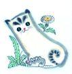 猫专辑0007,猫专辑,中国国画,抓住 灰鼠 踩住