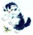 猫专辑0016,猫专辑,中国国画,猫 猫咪 宠物 捕捉 游戏